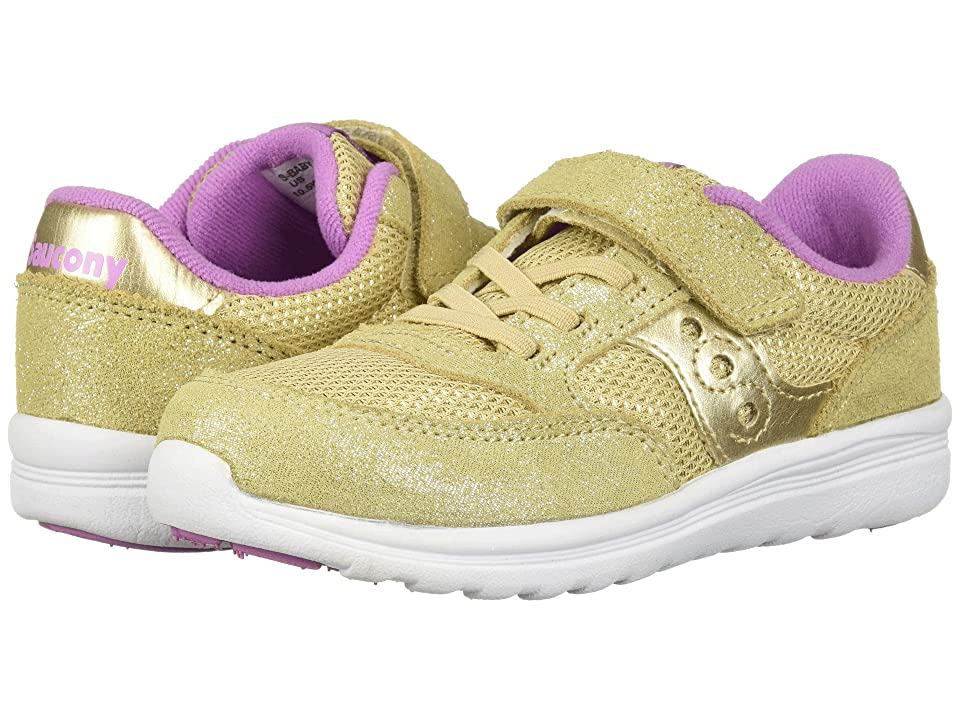 Saucony Kids Originals Jazz Lite (Toddler/Little Kid) (Gold Sparkle) Girls Shoes