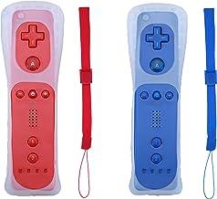 $34 » Poglen - Controlador de gesto inalámbrico compatible con consola Wii Wii U (2 paquetes, rojo y azul oscuro)