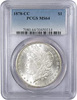 1878 CC $1 Morgan Silver Dollar US Coin MS 64 PCGS