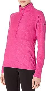 Roxy SNOW Junior's Cascade Fleece Top, Beetroot Pink RISINGPEAK Emboss, M