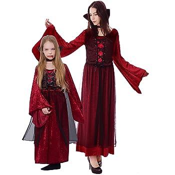 IKALI Disfraz de Vampiro Niña, Niño Vampiresa Gótica Princesa ...