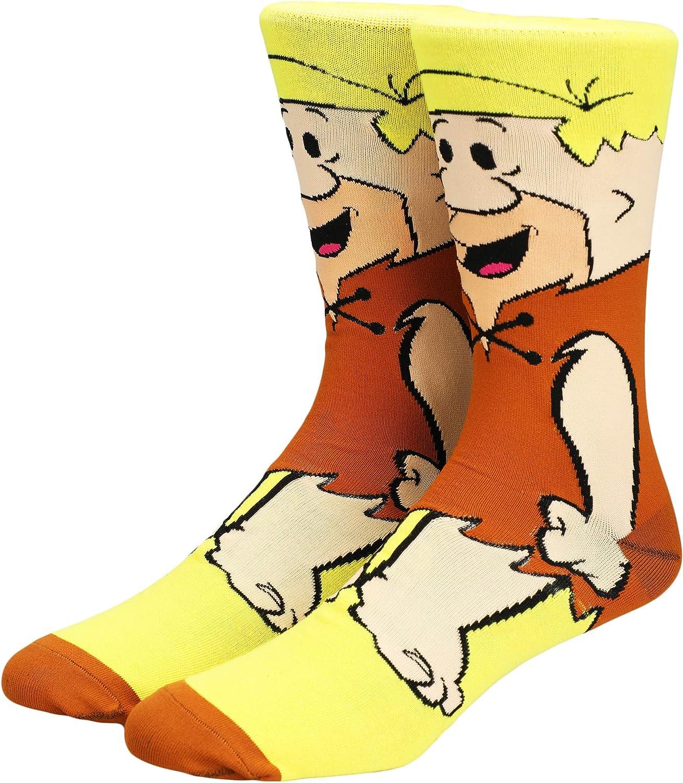Fln - Barney Rubble 360 Mens Character Crew Socks