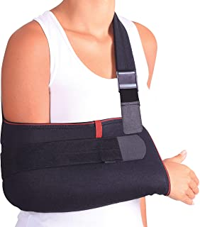 ORTONYX Arm Support Sling Shoulder Immobilizer Brace ? Breathable and Lightweight ? Fully Adjustable - L-XXL Black