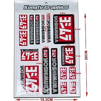 KUNGFU GRAPHICS カンフー グラフィックス サイレンサー レーシングスポンサーロゴ マイクロデカールシート(ホワイト)