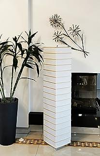 Trango TG1214 Lampadaire en papier de riz design moderne, lampe de salon en carré *EUROPA* avec tiges de décoration en bam...