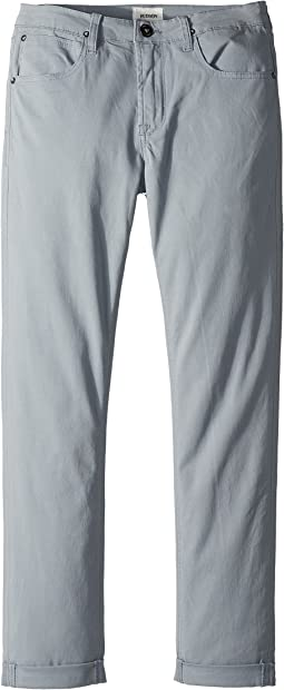 Hudson Kids - Blake Slim Leg Roll Cuff Sateen Pants in Powder (Big Kids)