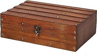 SLPR Decorative Wooden Chest Trunk (Red Wood)   Retro Vintage Treasure Keepsake Box