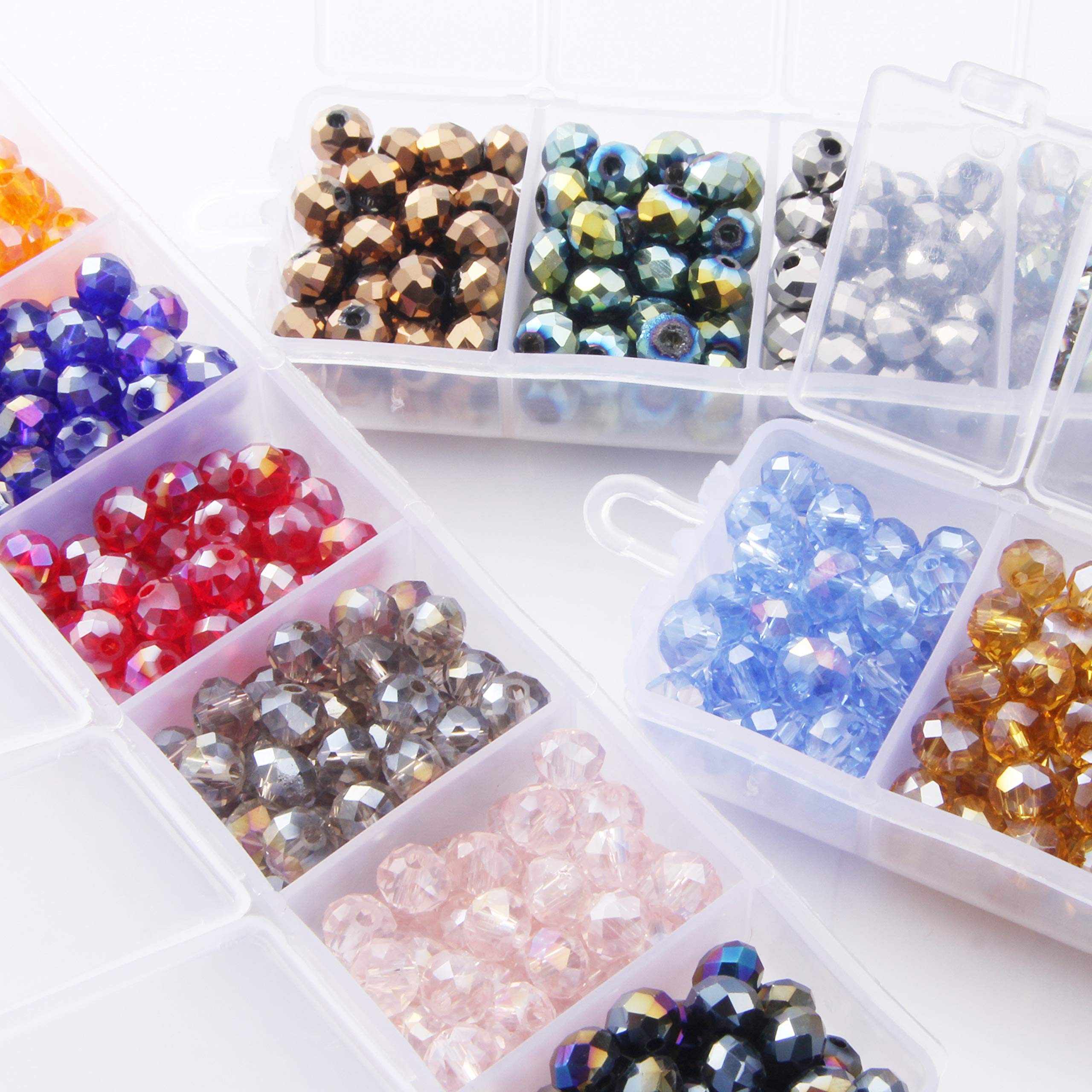 100PCS Crystal Glass Faceted Loose Spacer Beads lot DIY 4mm V7T1 Jewelry 6m L4W8