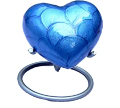Vintage King Blue Mini Heart Keepsake Urn with Stand- Small Purple Urn for Human Ashes Purple - Honor Your Loved One with ...