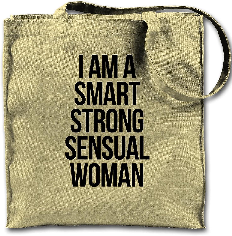 I Am A Smart Sensual Strong Women Natural Canvas Tote Bag, Cloth Shopping Shoulder Bag