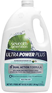 Seventh Generation Ultra Power Plus Auto Dish Gel, Fresh Citrus Scent, 65 Ounce