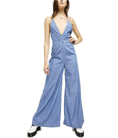 Free People Josie Jumpsuit (Blue) Women