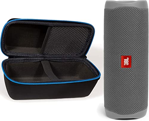 JBL Flip 5 Waterproof Portable Wireless Bluetooth Speaker Bundle with divvi! Protective Hardshell Case - Gray