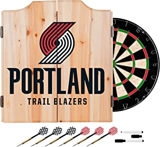 NBA Portland Trail Blazers Wood Dart Cabinet Set