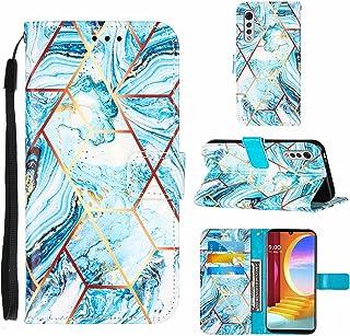 TTNAO kompatibel med LG Velvet 2 Pro fodral plånbok skal magnetisk stängning stativ kortplats skydd marmormönster stötfång...