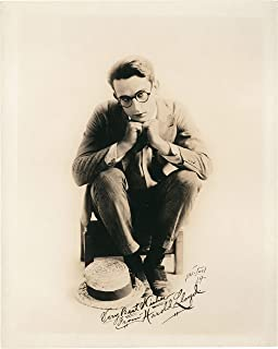 Harold Lloyd Photo with Reproduction Signature archival Quality