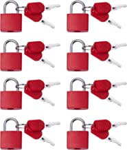 Padlocks (8 Pack) Small Padlock with Key for Luggage Lock, Backpack, Locker, Suitcase, Classroom Matching Game and More - ...