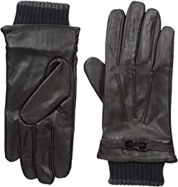 Quiff Ribbed Cuff Leather Gloves