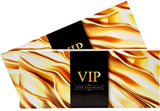 Gift Certificate for Business VIP Luxury High Gloss UV Coated Gold VIP [Set of 25]