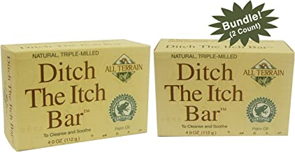 All Terrain Ditch The Itch Bar Soap, 4oz, to Cleanse & Soothe Itchy Irritated Skin (Pack of 2)