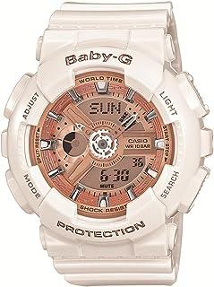 CASIO Baby-G Baby G Big Case Series big case series BA-110-7A1 Pink Gold × White Ladies Watch