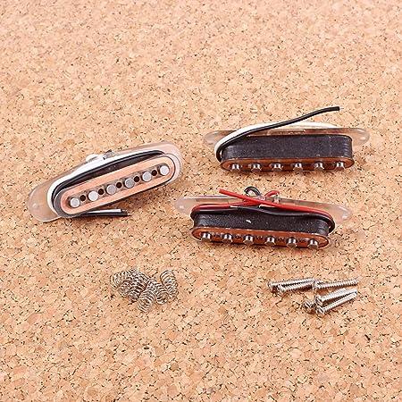 クリアボビンアルニコVシングルセット /  LuDa アルニコVシングルコイルピックアップセット3本セットSSSにあるSTスタイルギターブラックカラー 2