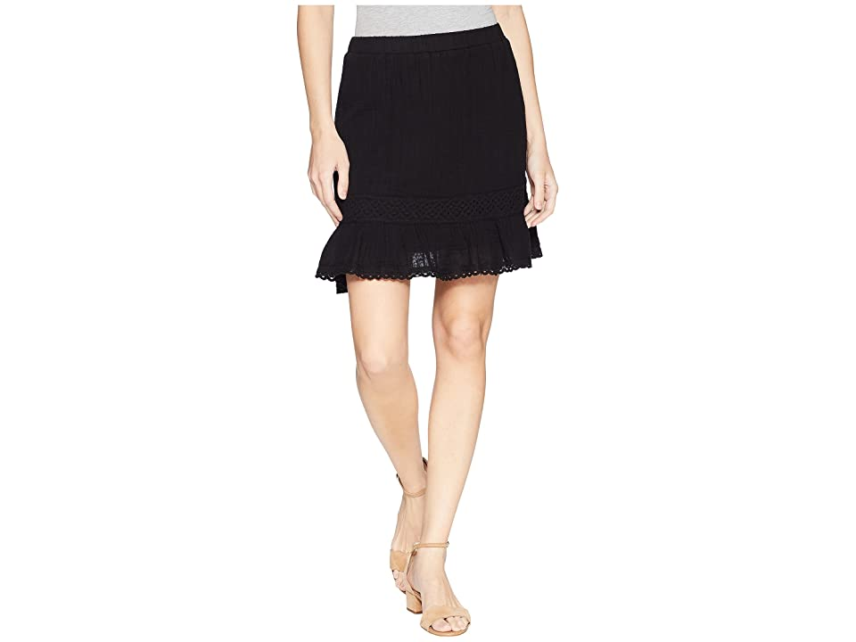 Michael Stars Double Gauze Peasant Skirt (Black) Women's Skirt