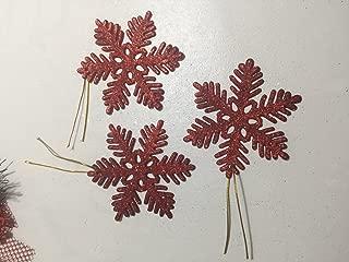 Yılbaşı Ağacı için Kırmızı Simli Kar Kristali