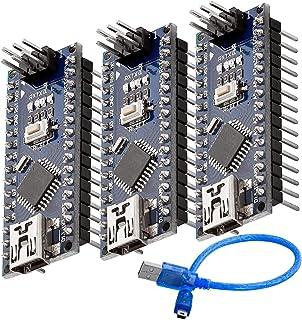 AZDelivery 3 pcs Nano V3.0 con ATmega328 Chip CH340 y 5V 16MHz versión soldada, Micro Controlador Board, versión mejorada ...