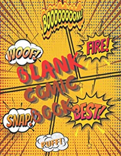 blank comic book for kids: comic book for Kids and Adults Draw caricatures of your creativity and create a group of your o...