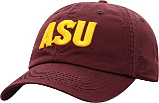 Top of the World Arizona State Sun Devils Men's Relaxed Fit Adjustable Hat Team Color Secondary Icon, Adjustable