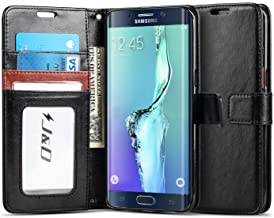 J&D Case Compatible for Galaxy S6 Edge Plus Case, [Wallet Stand] [Slim Fit] Heavy Duty Protective Shockproof Flip Wallet C...