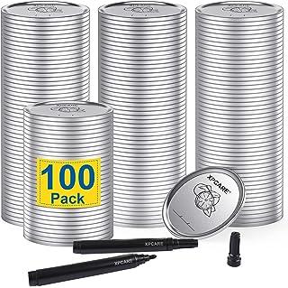 XPCARE 100 Pcs Mason Jar Lids Regular Mouth Canning Lids Lids for Mason Jar Canning Lids Split-type Lids Leak Proof And Se...