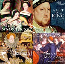 MOTHER'S DAY GIFT - SET OF 4 CD'S - SONGS FOR WILLIAM SHAKESPEARE, MUSIC FOR KING HENRY VIII, QUEEN ELIZABETH I AND MUSIC FROM THE MIDDLE AGES - FREE CD {jg} Great for mom, dad, sister, brother, grandparents, aunt, uncle, cousin, grandchildren, grandma, grandpa, wife, husband, relatives and friend.