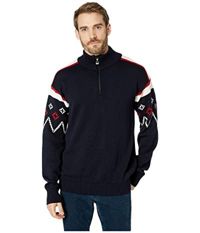 Dale of Norway Seefeld Masculine Sweater (C-Navy/Raspberry/Off-White) Men
