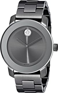 Movado Women's 3600103 Bold Gunmetal-Tone Bracelet Watch with Swarovski Crystals