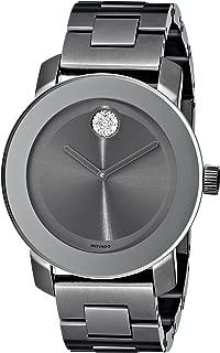 Movado Women's 3600103 Bold Gunmetal-Tone Bracelet Watch with Swarovski Crystals