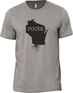 Thread Tank Home Roots State Wisconsin WI Men's Modern Fit Fun Humor T-Shirt Printed Graphic Tee