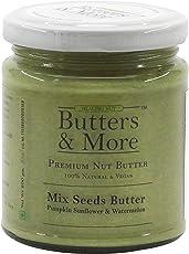 Butters & More Vegan Mix Seed Butter Unsweetened. (200G) 70G Plant Protein Per Jar. Pumpkin, Sunflower & Watermelon Seeds.