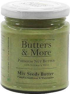 Butters & More Vegan Mix Seed Butter (200G) 70G Plant Protein Per Jar. Pumpkin, Sunflower & Watermelon Seeds.