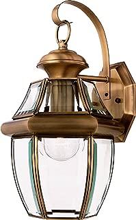 Quoizel NY8316A Newbury Outdoor Wall Lantern Wall Mount Lighting, 1-Light, 150 Watt, Antique Brass (14