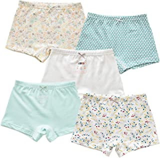 Jiaboy 5 of Pack Girls Panties Princess Print Little Girls Underwear Cotton Boyshorts Hipster Kids Briefs 3-10 Years