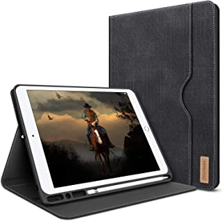 iPad 10.2 Case - 2019 Cover for iPad 7th Generation with Pencil Holder - Folio Leather Stand Smart Cover with Pocket Auto Sleep/Wake Protector for iPad 10.2 Inch 2019
