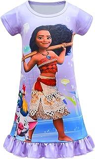 لباس شاهزاده KIDHF Toddler Little Girl PJS Moana Comfy Loose Fit لباس خواب دخترانه چاپ شده