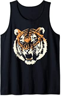 Wild tiger head apparel   Savage angry animal Tank Top