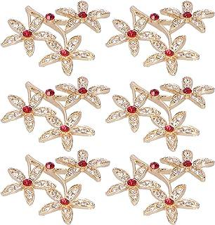 Flower Brooch, Beautiful Elegant Brooch Pin, for Making Hand‑made Gifts Friends Women(Pentagram)