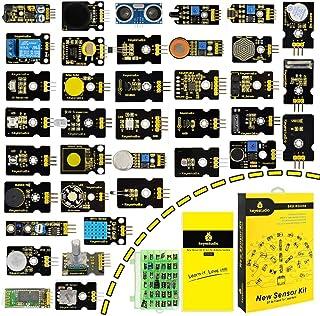 KEYESTUDIO 37 in 1 Sensor Module Kit for Arduino UN0, MEGA 2560, Programming Project, Electronics Components STEM Educatio...