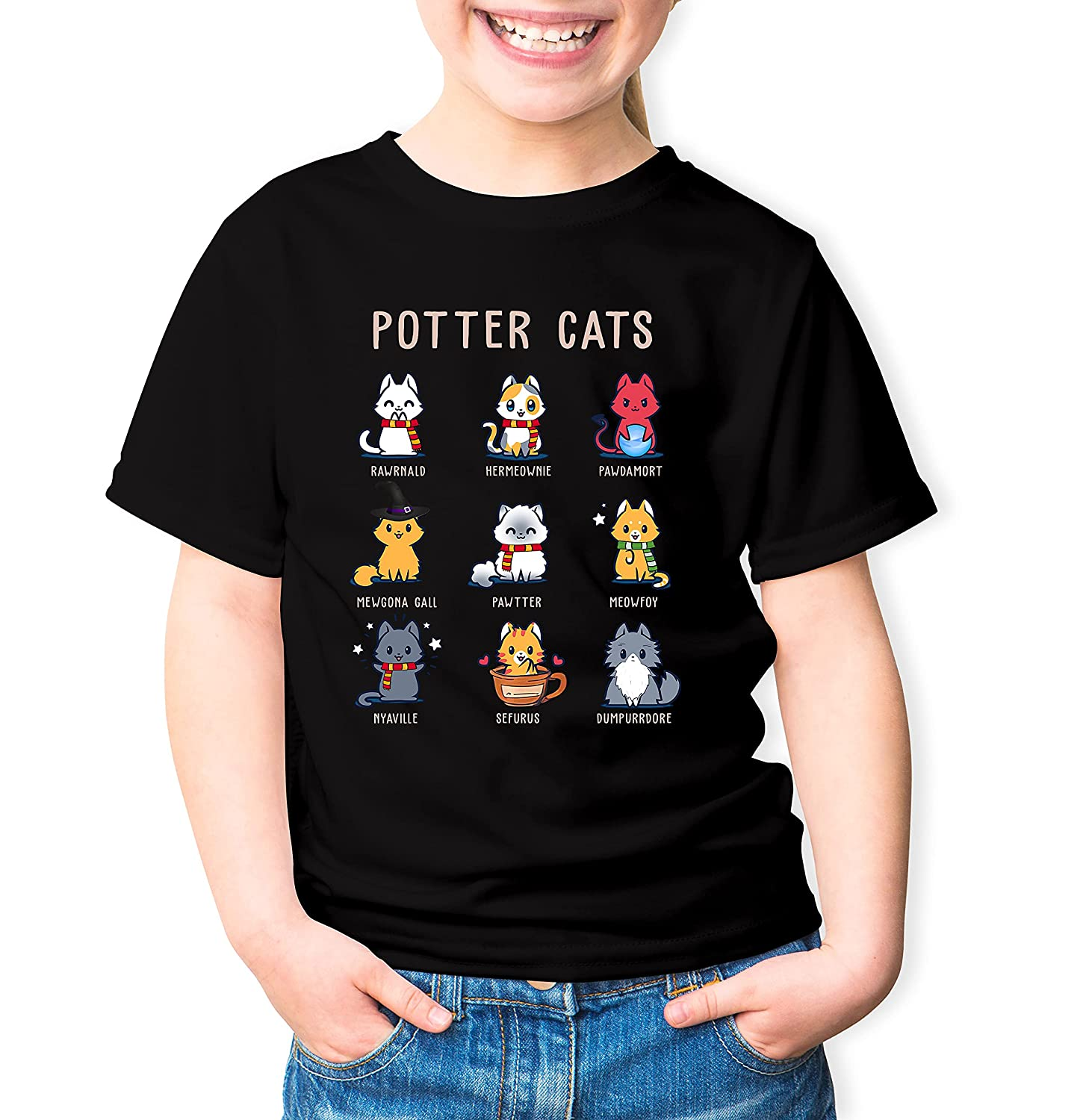 Potter Cats T-Shirt Funny Fees free Gifts Cat Lovers Tshirt Hoodie unisex For