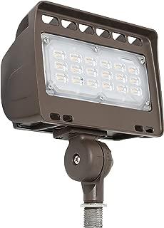Westgate Lighting LED Flood Light with Knuckle Mount - Best Security Floodlight Fixture for Outdoor Yard Landscape Garden Lights - Safety Floodlights - UL Listed (30 Watt 5000K Cool White)