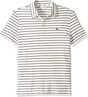 Lacoste Men's S/S Oima Interlock Regular Fit Striped Neckline